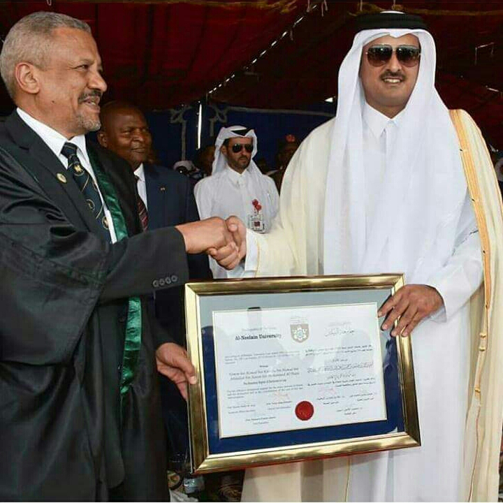 Al-Neelain University Awards HH Emir of Qatar Honorary Doctorate ‎