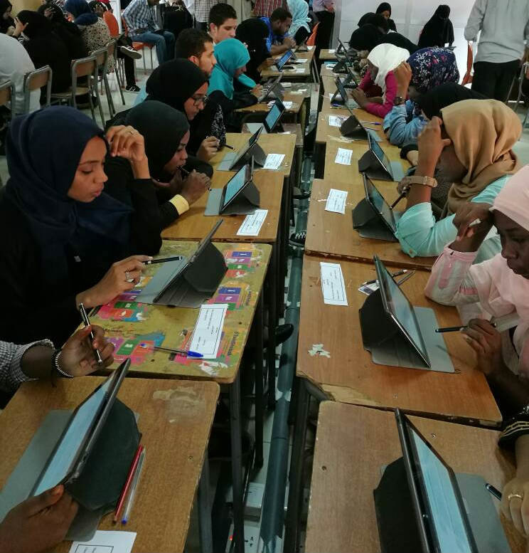 Launching of computerized exams using the Tablet PCs